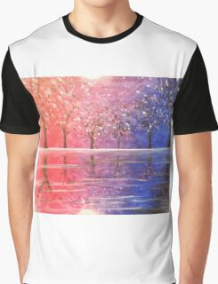 Diverged in a Purple Wood Graphic T-Shirt