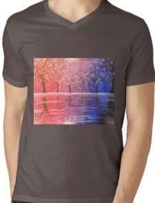 Diverged in a Purple Wood Mens V-Neck T-Shirt