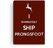 Shamelessly Ship Prongsfoot Canvas Print
