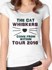 Dan and Phil NEW TOUR 2016 MERCH CAT WHISKERS! Women's Fitted Scoop T-Shirt