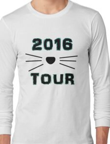 Dan and Phil NEW TOUR 2016 MERCH CAT WHISKERS! BLUE Long Sleeve T-Shirt