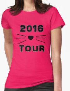 Dan and Phil NEW TOUR 2016 MERCH CAT WHISKERS! BLUE Womens Fitted T-Shirt