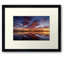 Red Reflections Framed Print