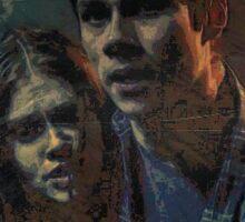 Stiles and Lydia, Teen Wolf Sticker Sticker