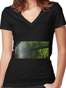 Serenity Falls Women's Fitted V-Neck T-Shirt
