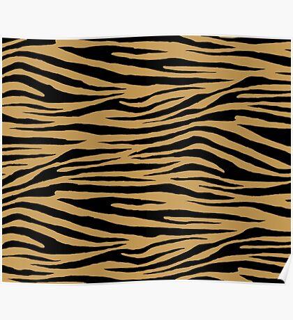 0615 Aztec Gold Tiger Poster