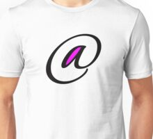 """at sign"" typography Unisex T-Shirt"