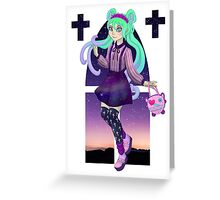 Crosses and Glitter Greeting Card