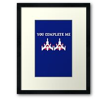 You Complete Me Galaga Video Game Framed Print