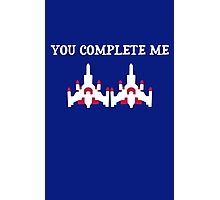 You Complete Me Galaga Video Game Photographic Print