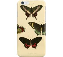 Illustrations of new species of exotic butterflies  iPhone Case/Skin