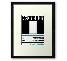 Conor McGregor - Fight Camp Collection (check artist notes for limited edition link)  Framed Print