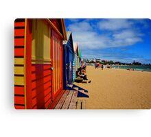Brighton Beach Huts Vic Canvas Print