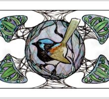 Fairy Wren- 'Nouveau Motif'(horizontal) Sticker