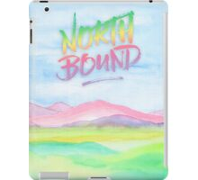 North Bound Pink Purple Mountains Watercolor Painting iPad Case/Skin