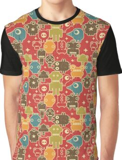 Robots on red Graphic T-Shirt