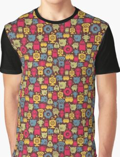 Robot and monsters. Graphic T-Shirt