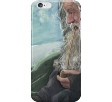Gandalf the Grey and the mountain  iPhone Case/Skin