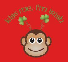Kiss Me, I'm Irish Monkey  Kids Tee