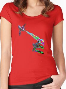 Dogfight Paint Bombing Women's Fitted Scoop T-Shirt