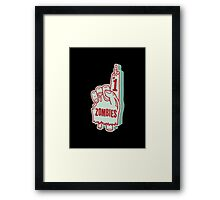 Number One Zombies Framed Print