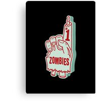 Number One Zombies Canvas Print