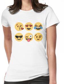 Mandala Emoji Womens Fitted T-Shirt