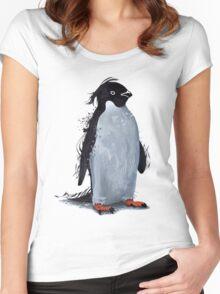 Winter Penguin Women's Fitted Scoop T-Shirt