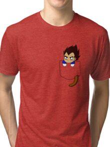 Chibi Vegeta in shirt pocket Tri-blend T-Shirt