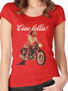 Ciao Bella! (Transparent background) Women's Fitted Scoop T-Shirt