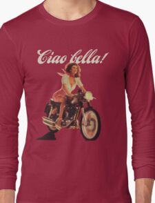 Ciao Bella! (Transparent background) Long Sleeve T-Shirt