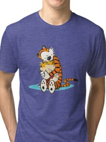 Calvin and hobbes i like moment Tri-blend T-Shirt