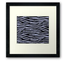 0143 Cool Grey or Gray-Blue Tiger Framed Print