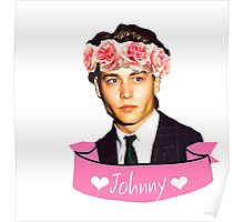 Johnny and Flowers Poster