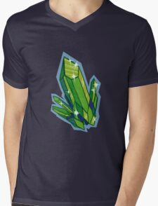 Peridot Cluster Mens V-Neck T-Shirt