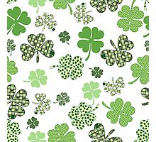 St. Patricks Day Shamrocks Photographic Print