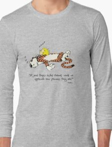 Calvin And Hobbes Quote sleep Long Sleeve T-Shirt