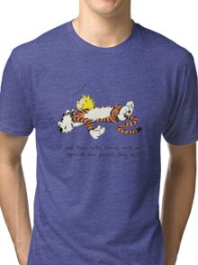 Calvin And Hobbes Quote sleep Tri-blend T-Shirt