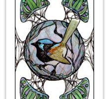 Fairy Wren- 'Nouveau Motif'(vertical) Sticker
