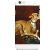 Jacques Raymond Brascassat  A GREYHOUND RESTING ON A CHAIR iPhone Case/Skin