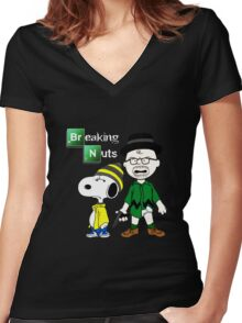 Breaking Nuts Women's Fitted V-Neck T-Shirt