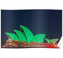 Green Sydney Opera House Poster