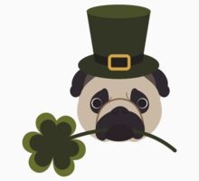 St. Patrick's Day Pug One Piece - Long Sleeve