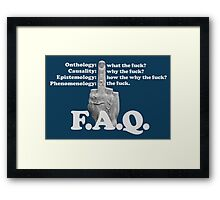 Frequently Asked Questions Framed Print