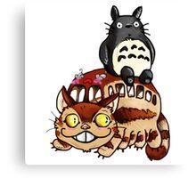 Catbus and Totoro - A Fun Ride Canvas Print
