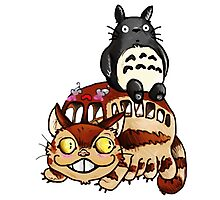 Catbus and Totoro - A Fun Ride Photographic Print