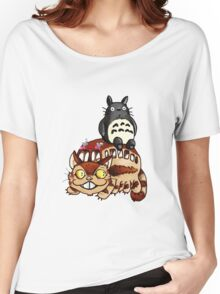 Catbus and Totoro - A Fun Ride Women's Relaxed Fit T-Shirt