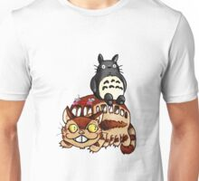 Catbus and Totoro - A Fun Ride Unisex T-Shirt