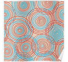 Colored circles seamless pattern Poster