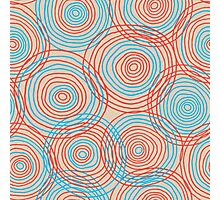 Colored circles seamless pattern Photographic Print